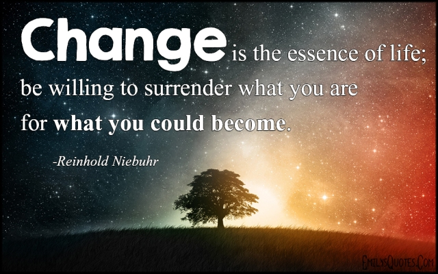 Change is the essence